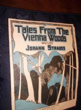VINTAGE ORIGINAL SHEET MUSIC TALES FROM VIENNA WOODS WALTZES STRAUSS PAXTON 2062